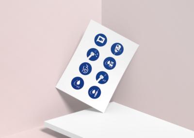 design marketing infographie icone
