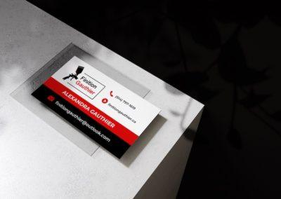 conception carte affaires dr web